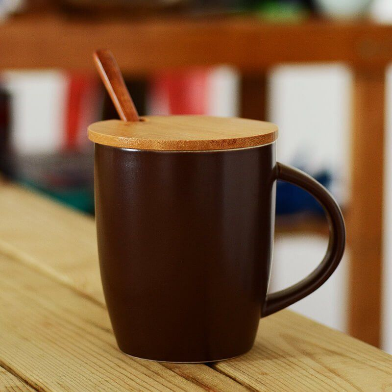 Porcelain Coffee Mug With Dark Color