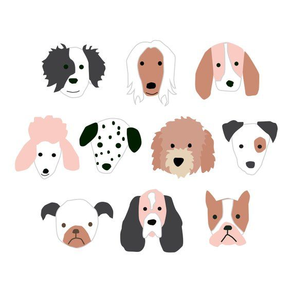 Puppy Dog Faces Png Files For Children S Rooms Or Birthday Etsy Dog Illustration Puppy Backgrounds Halloween Puppy
