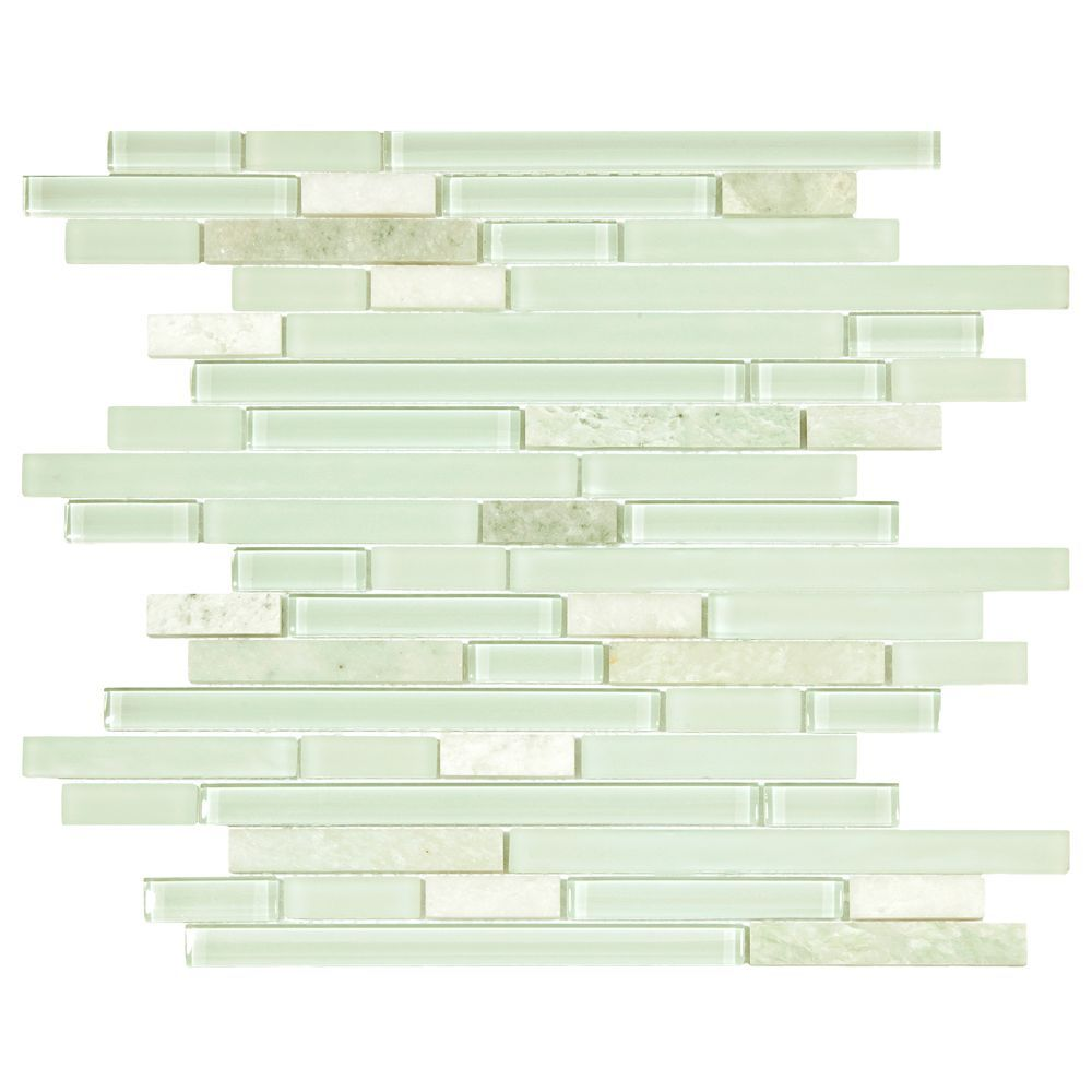 Tessera Piano Ming 11 3 4 Inch X 11 7 8 Inch X 8 Mm Glass And Stone Mosaic Tile 9 9 Sq Ft Case Carton