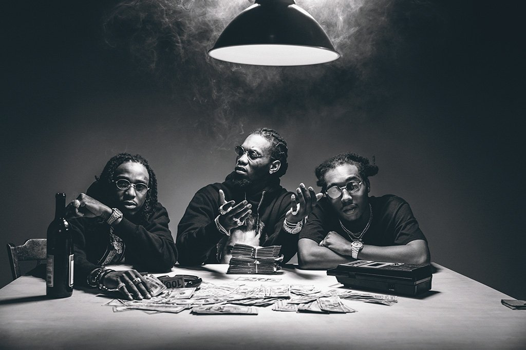 Migos Black And White Poster Black And White Posters Hip Hop Poster Migos Wallpaper