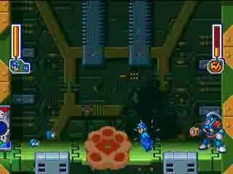 Grenade Man from Mega Man 8, defeated by world9918. The Thunder Claw pulls the pin on Grenade Man's offensive strategy.