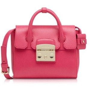 Furla Metropolis Pinky Leather Mini Satchel