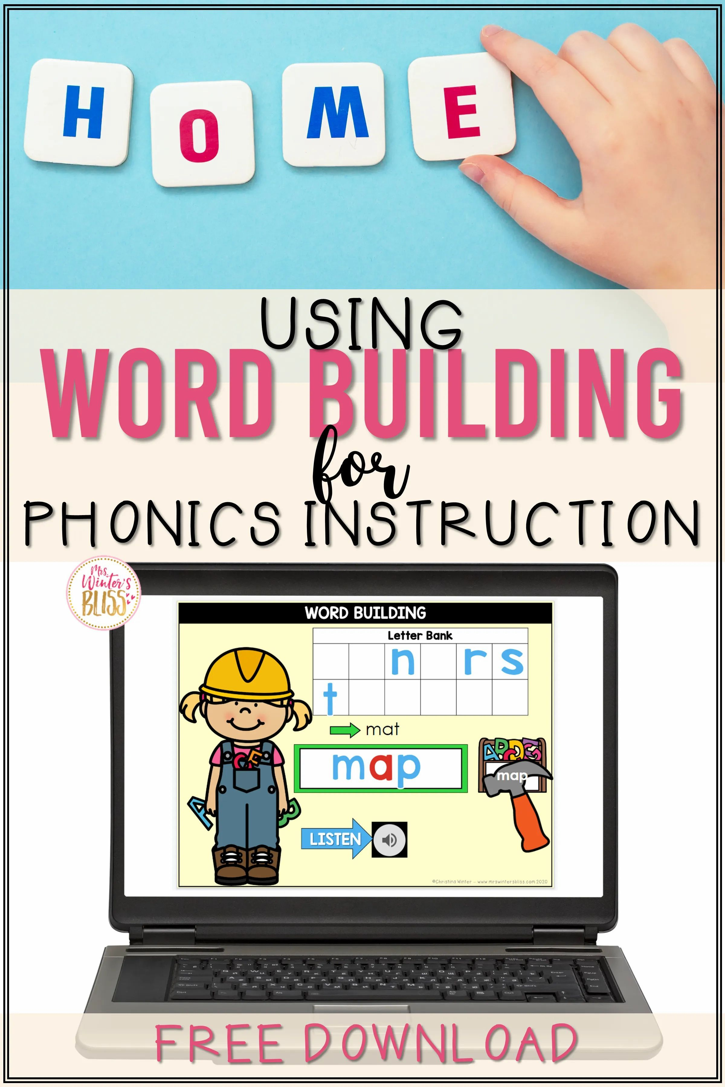 FREE DOWNLOAD in 2020 Word work activities kindergarten