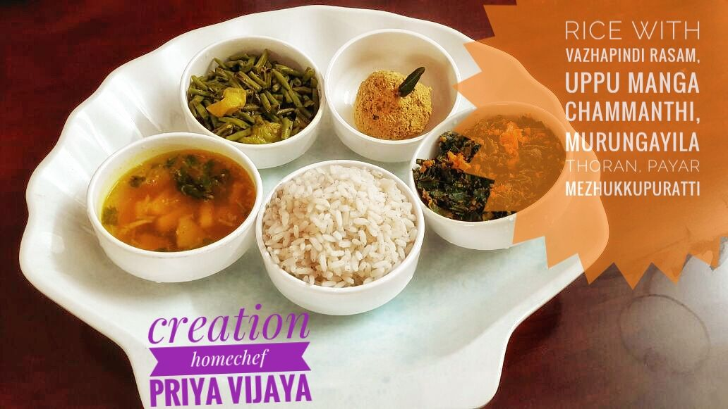 authentic kerala food served with love and care by a group of home chefs in trivandrum