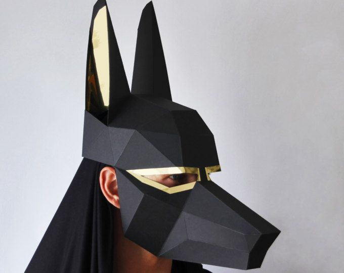 ANUBIS Mask - Easy to make Egyptian mask - Make a Low-Poly ...