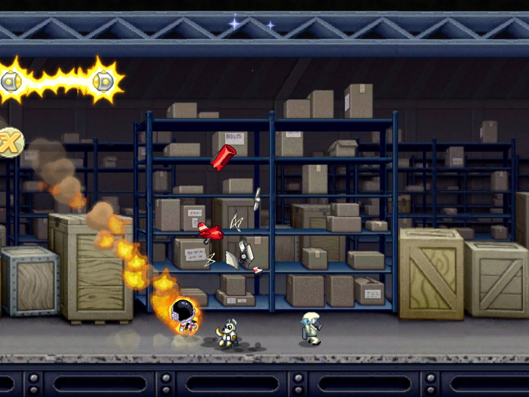 Wow! Atmospheric entry ... Astronaut on fire! | Jetpack Joyride ...