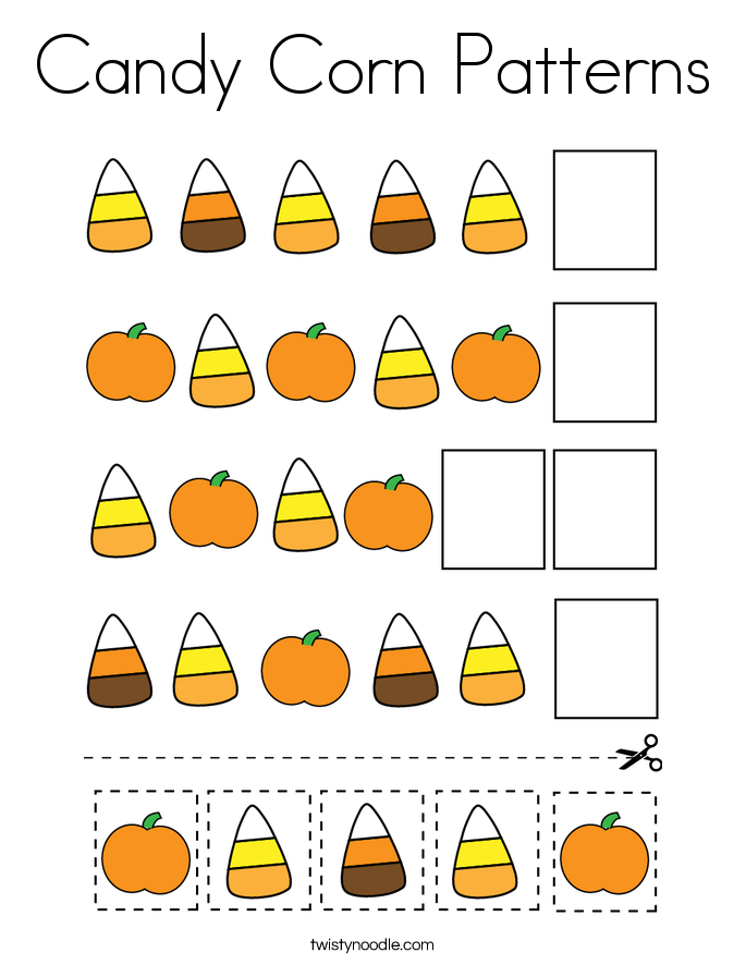 Candy Corn Patterns Coloring Page Twisty Noodle