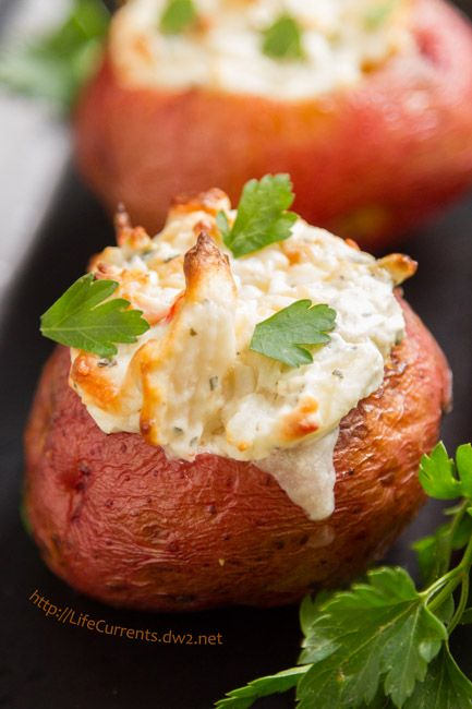 i served these crab stuffed baked potatoes for christmas eve dinner this year they were