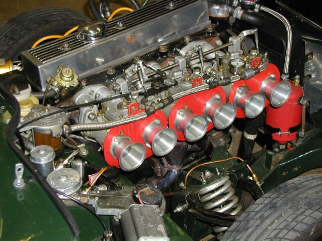 Two Litre In Line Six Cylinder Engine Of A Triumph Gt6 Set Up With