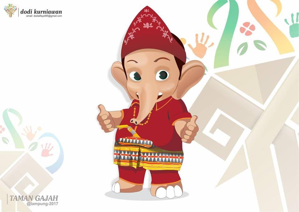 Maskot Lampung Taman Gajah Di 2020 Gajah
