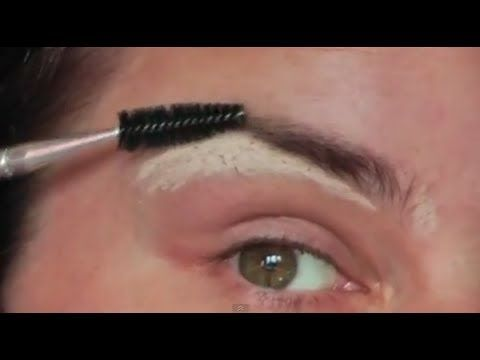 how to pluck shape fill in eye brows tutoriallauren