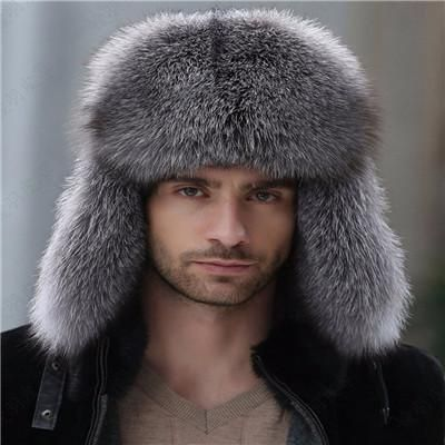 5239d29fe Russian leather bomber leather hat men winter hats with earmuffs ...