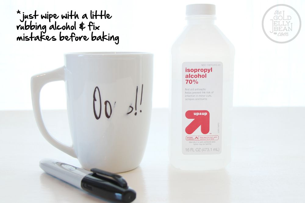 Use Rubbing Alcohol To Remove Permanent Marker From Mugs
