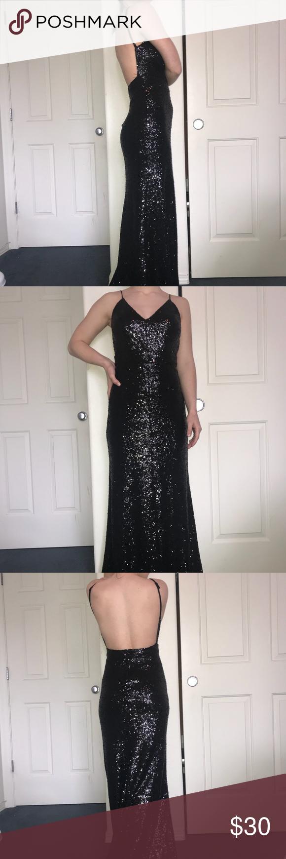 Black sequin prom dress b smart pinterest sequin prom dresses