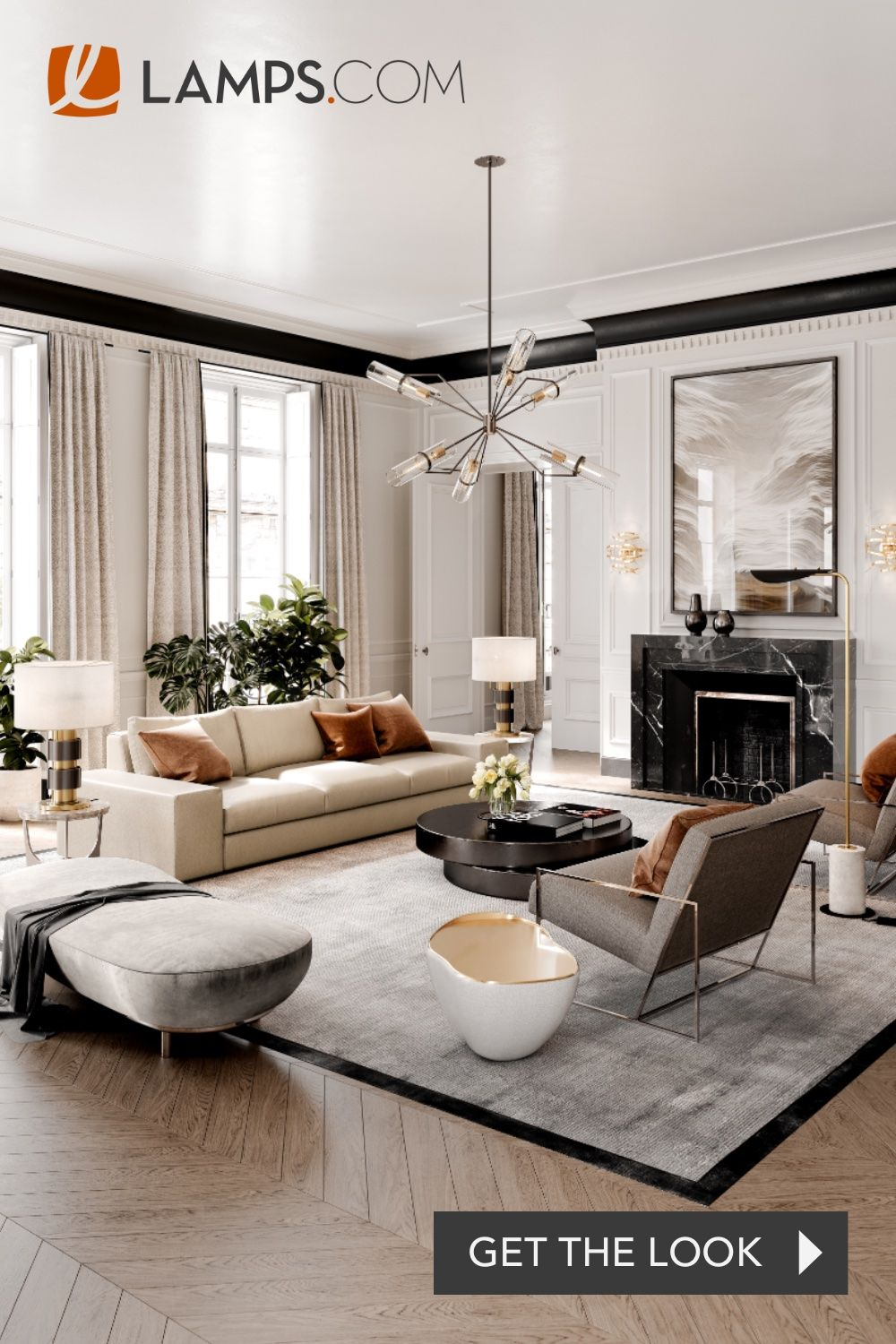 Get The Look With Our Modern Townhome Collection Handpicked By Our In House Design Team In 2020 Elegant Living Room Living Room Scandinavian Rustic Living Room