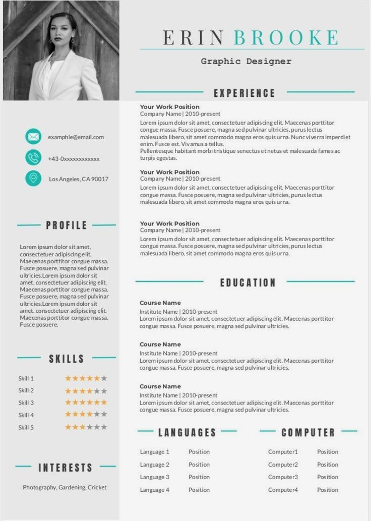 ONLY 5! The Resume that will get you HIRED! This modern