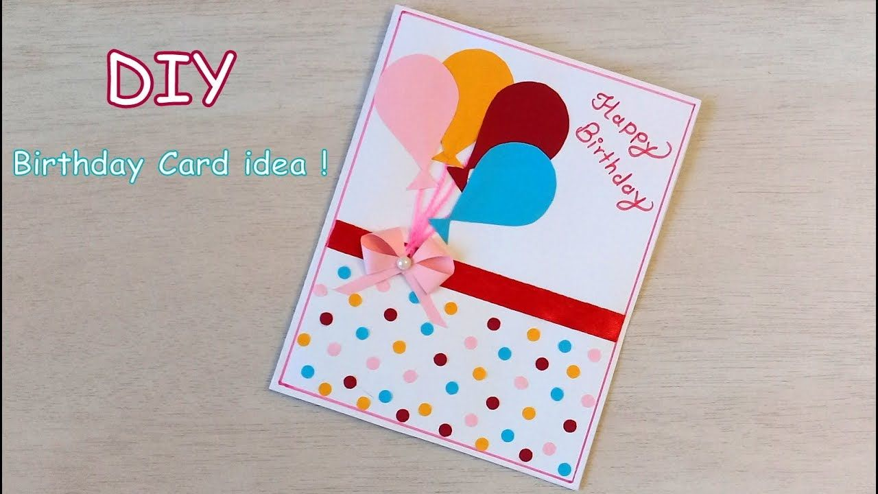 Diy Beautiful Handmade Birthday Card Quick Birthday Card Idea In 2020 Birthday Cards Diy Birthday Card With Photo Handmade Birthday Cards