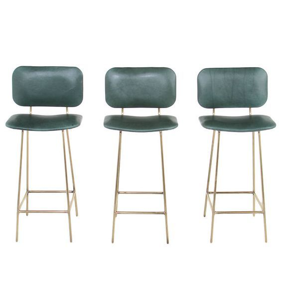 Best Of Green Leather Bar Stools