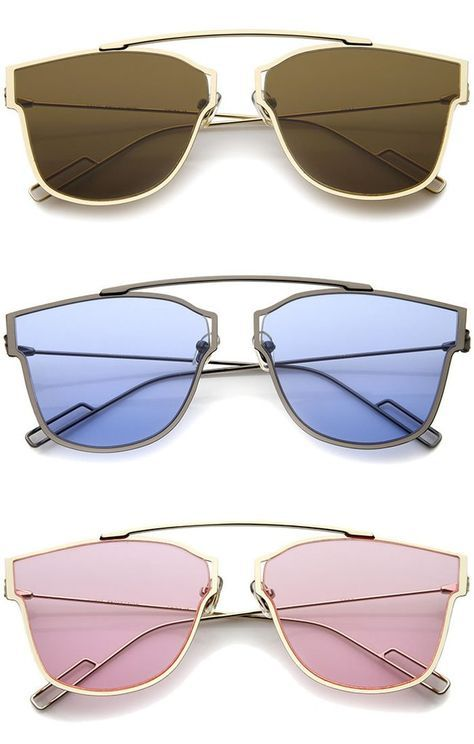 ef529e3d75b MODERN FASHION ULTRA THIN OPEN METAL MINIMALIST PANTOS AVIATOR SUNGLASSES