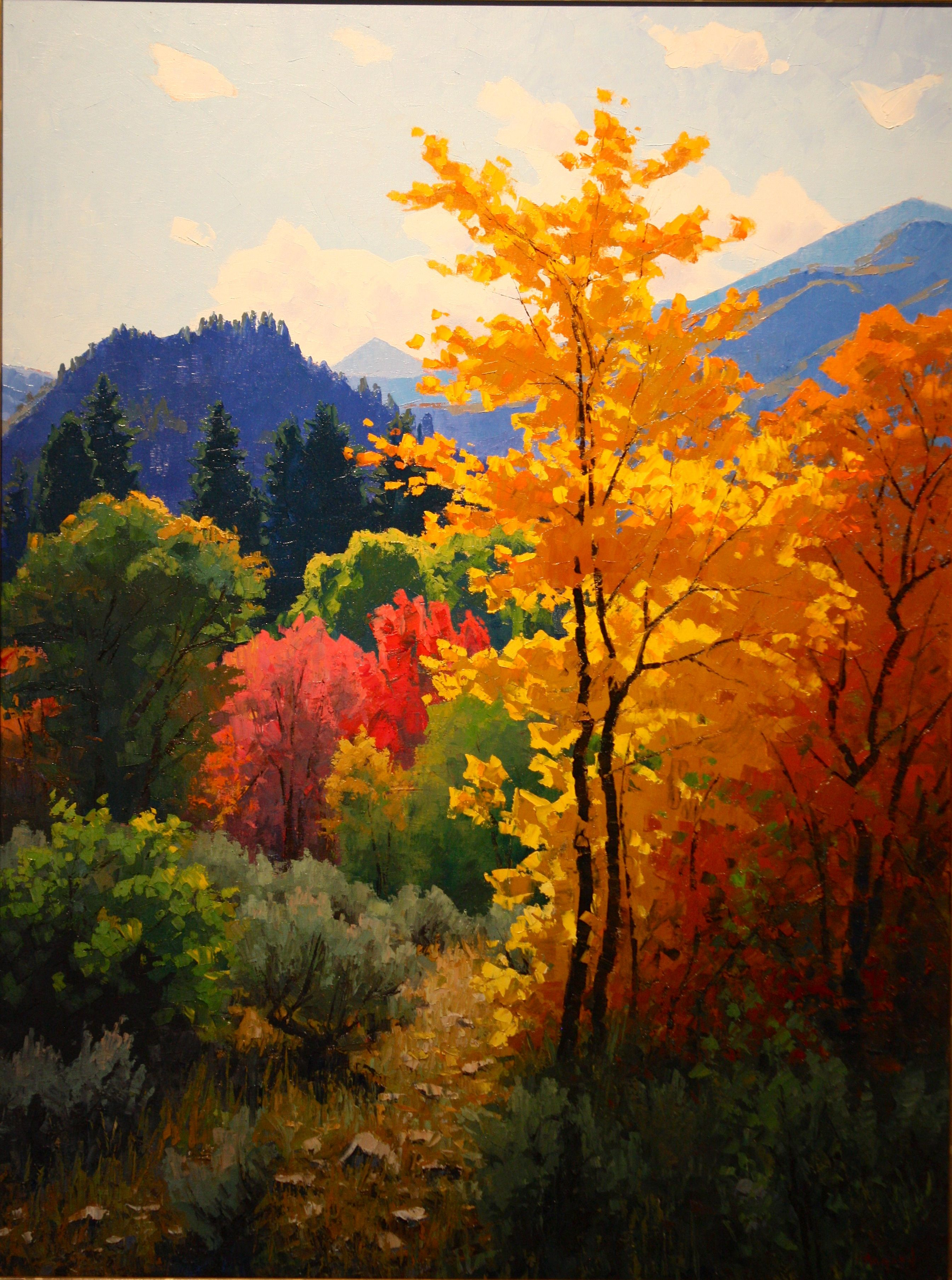 Douglas Aagard Autumn Painting Landscape Art Oil