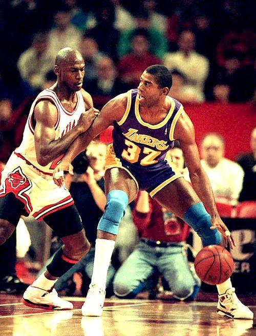 f2b5ab21437 Michael Jordan vs. Magic Johnson | Vintage Sports | NBA, Basketball ...