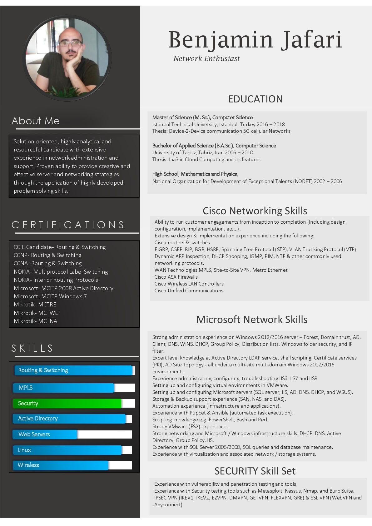 Network Engineer Resume Network Engineer Network Solutions Downloadable Resume Template
