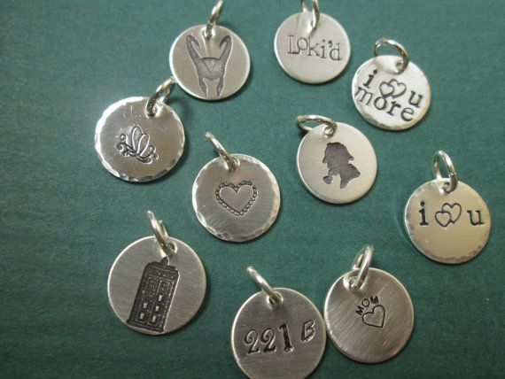 Custommade charms Solid sterling silver  by ImpressedArt on Etsy, $24.50