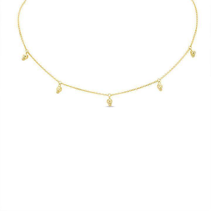 Zales Diamond-Cut Station Necklace in 14K Gold - 17 NNawd