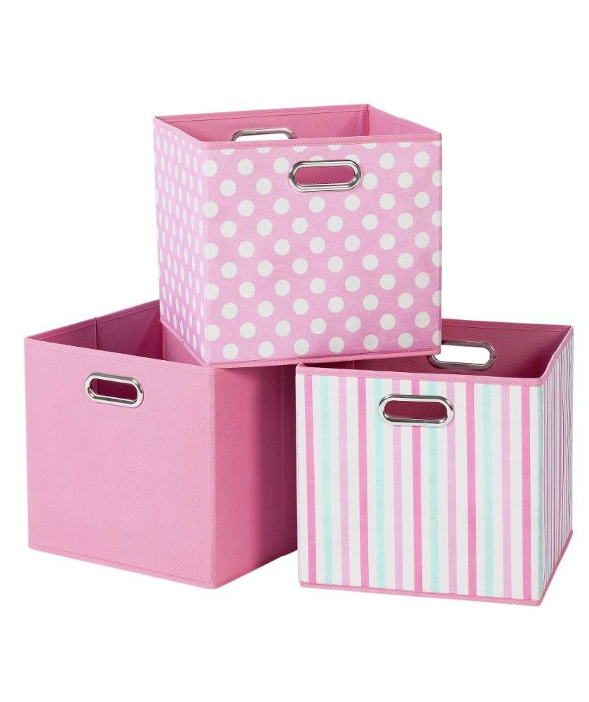 pink canvas storage boxes 3 pack at argos your from Argos Pink Kitchen Accessories  sc 1 st  Pinterest & pink canvas storage boxes 3 pack at argos your from Argos Pink ...