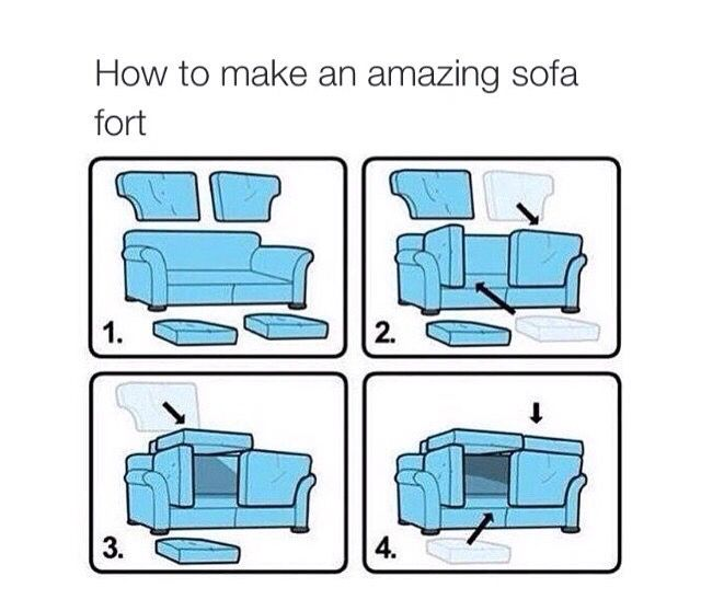 Cool couch fort My stuff and friends Pinterest Forts
