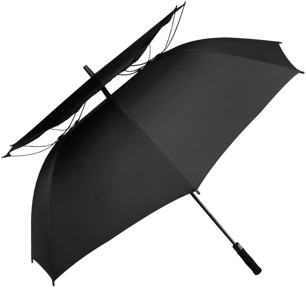 aa5b5e3677d23 Golf Umbrella Oversize Vented Double Canopy Automatic Open 62 Inch  Windproof #GolfUmbrella