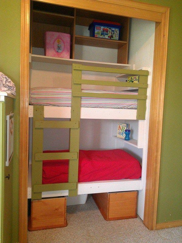 Diy Unique Built In Bunk Beds Diy Bunk Bed Toddler Bunk Beds