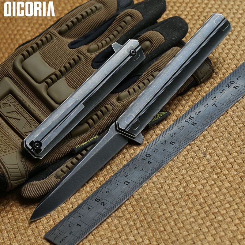 Camping Quartermaster: DICORIA Quartermaster M390 Blade TC4 Titanium Tactical