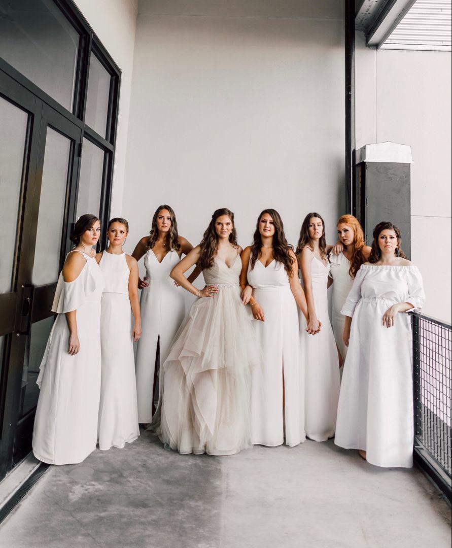 White Bridesmaid Dresses Miss Hayley Paige Wedding Dress