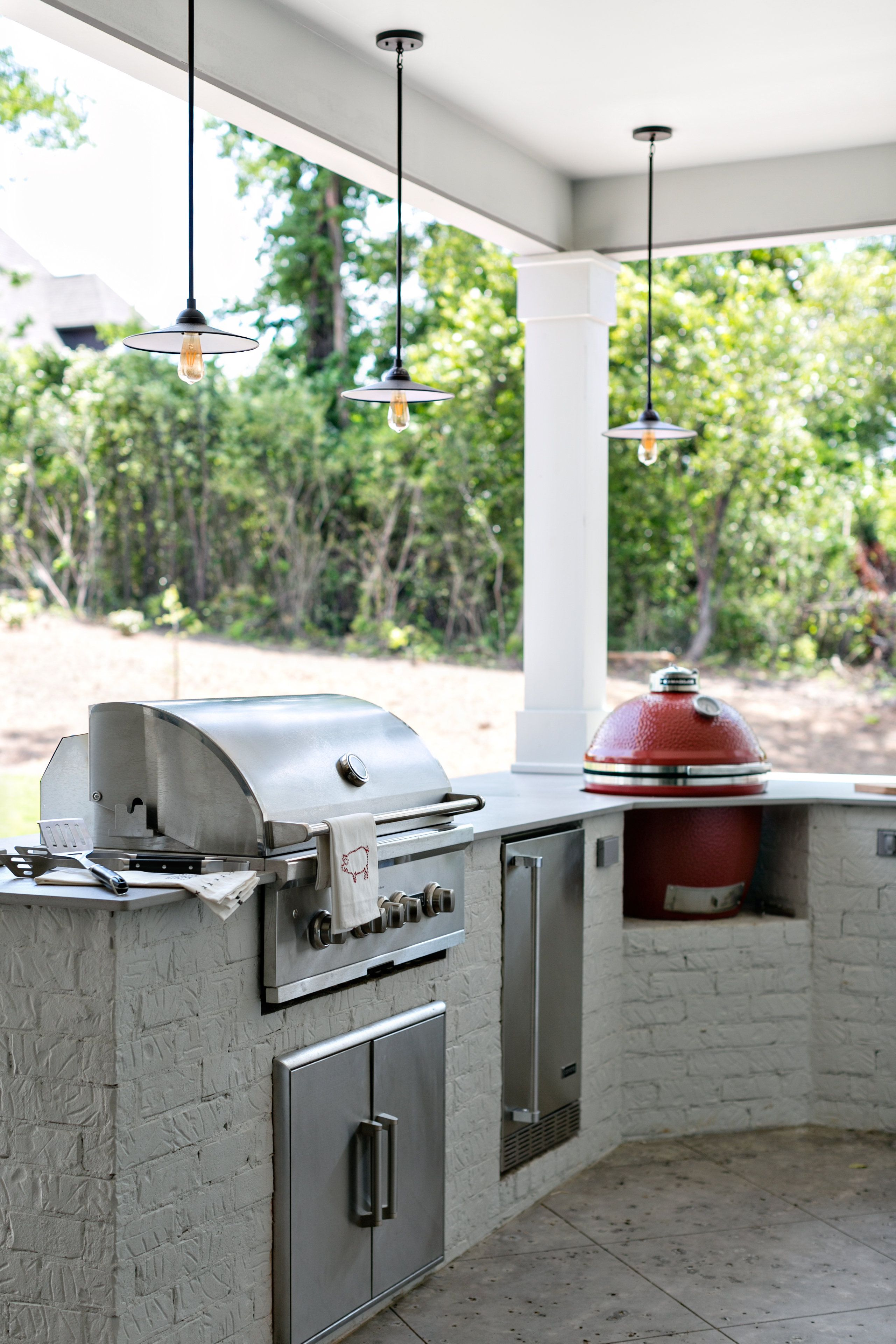 Southern Living Altadena Plan Covered Back Porch With Outdoor Kitchen Southernlivingplan Small Outdoor Kitchens Outdoor Kitchen Cabinets Build Outdoor Kitchen