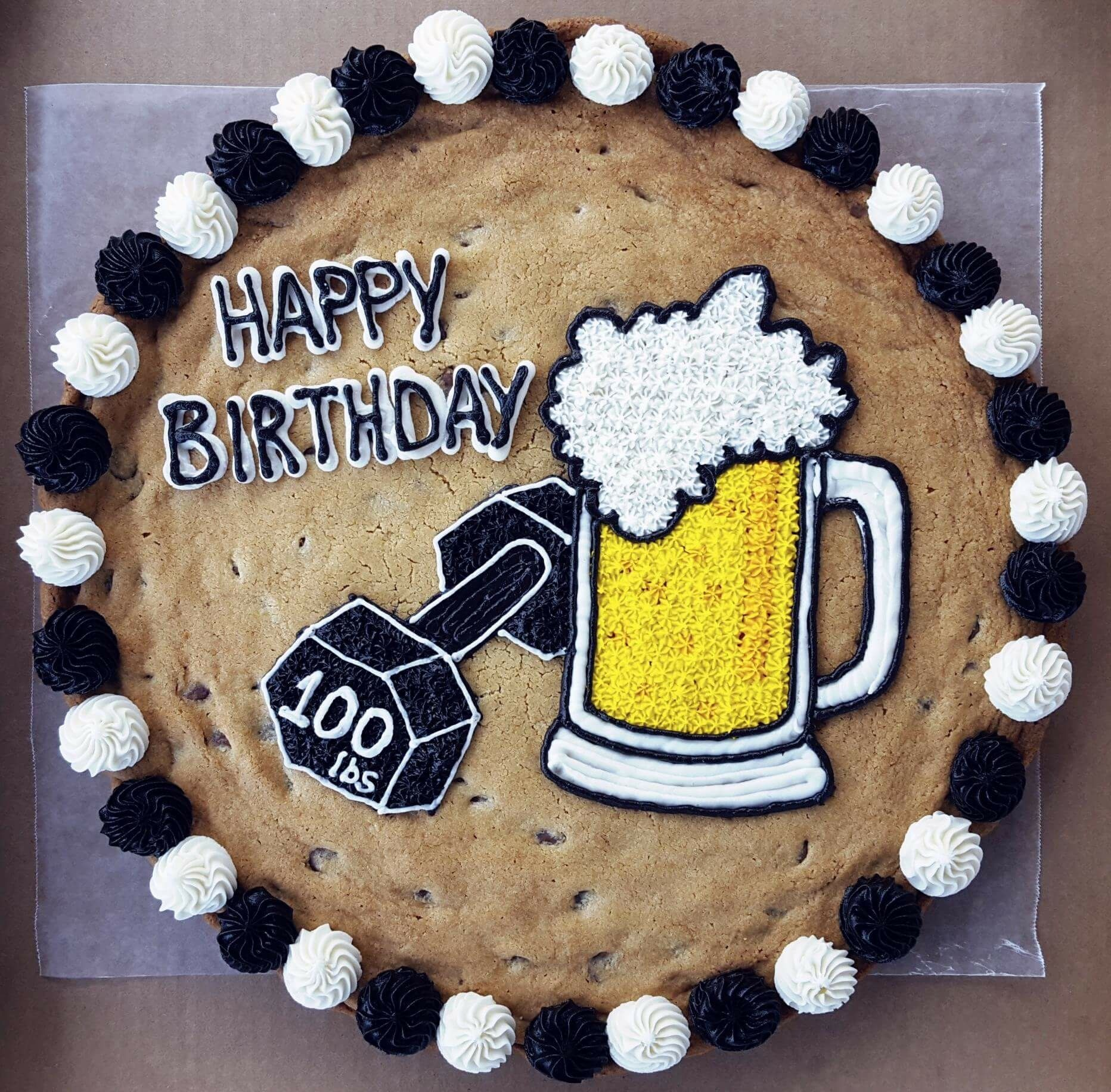 Beer and weights Cookie cake Cookie cakes in 2018