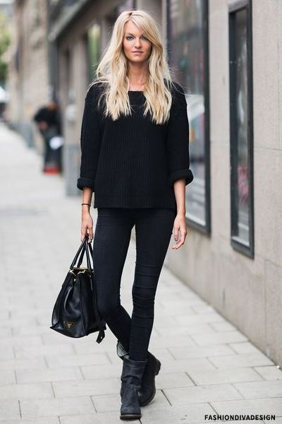 Black Boots Street Style