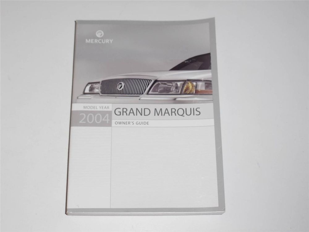 2004 mercury grand marquis owners manual book owners manuals rh pinterest com 2004 Mercury Grand Marquis Fuse Box Diagram 2004 mercury grand marquis owners manual free