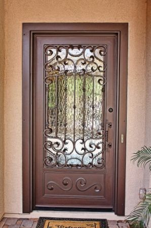 Beautiful Wood and Metal Front Doors
