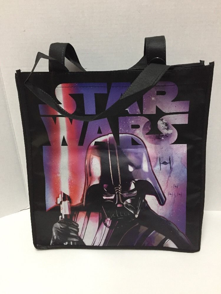 be6ed05829ca Halloween Star Wars Tote Bag Reusable Darth Vader Treat Birthday Party Favor