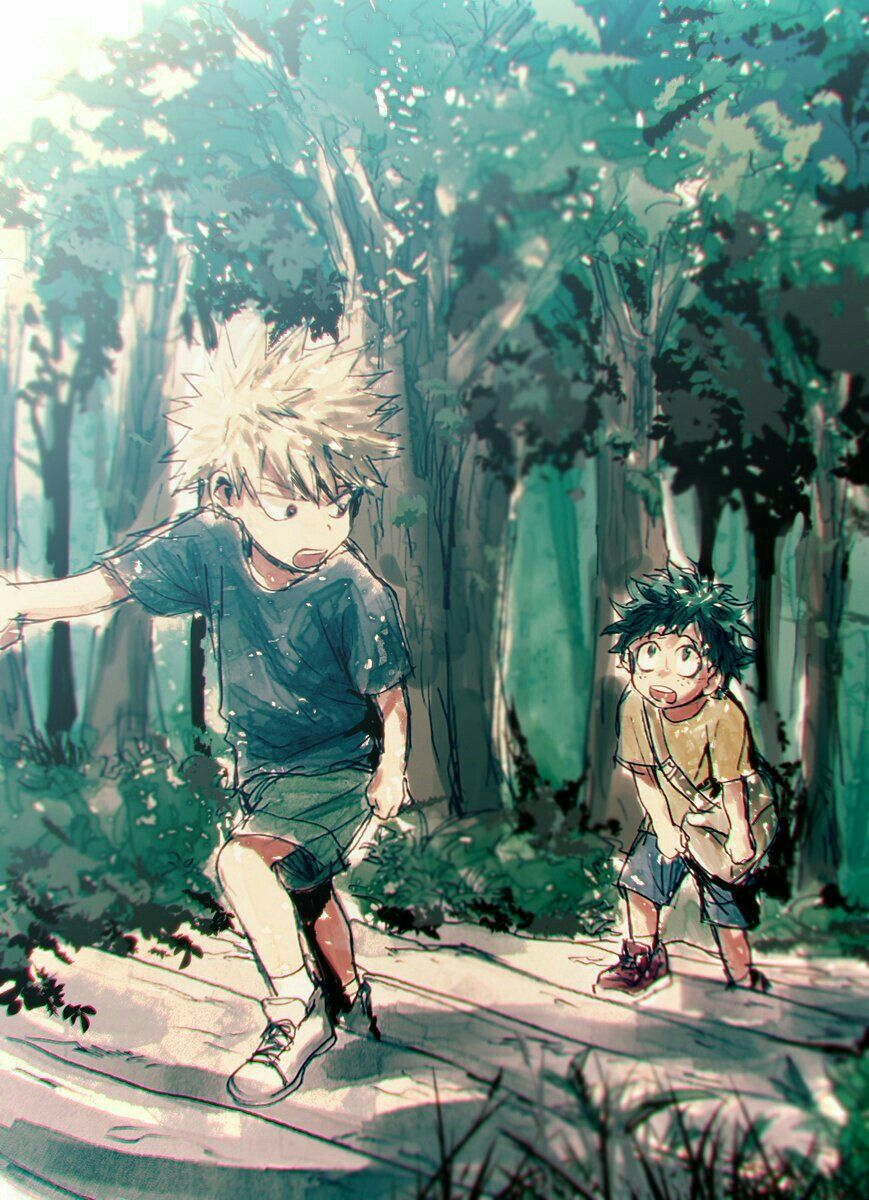 Izuku, Katsuki, young, childhood, cute; My Hero Academia