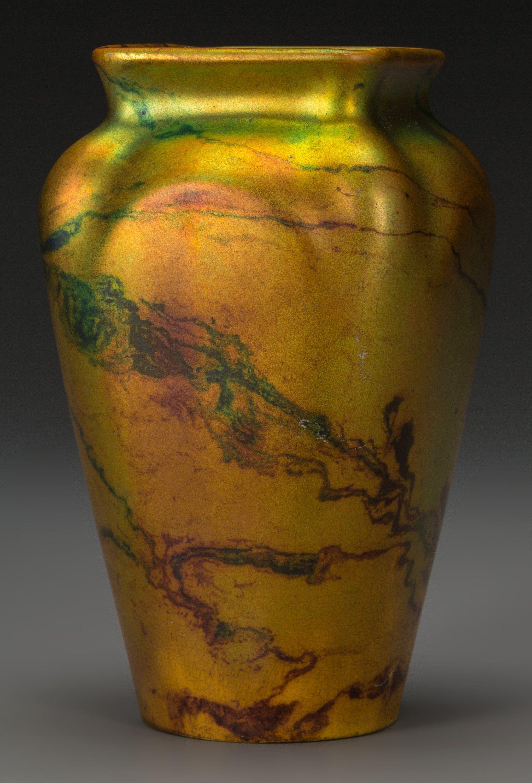 A Zsolnay Lustre Ceramic Marbled Vase Pecs Hungary Circa Lot 63115 Heritage Auctions Porcelain Ceramics Ceramics Ceramic Art