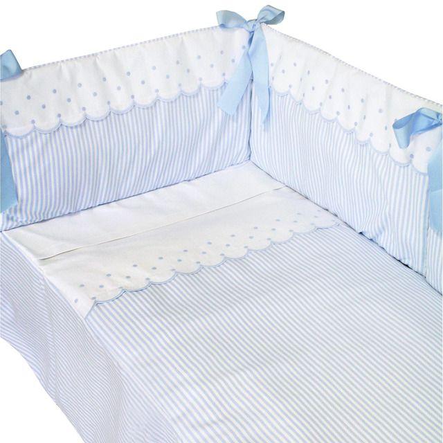 Colcha protector de cuna 84p9 piro en azul bebe pinterest protectores de cuna colchas - Protectores para cama cuna ...