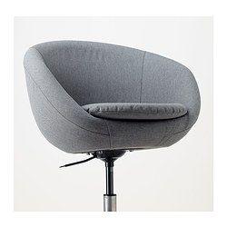 Bureaustoel Met Rubberen Wielen.Skruvsta Bureaustoel Vissle Grijs Ikea Office Chair Swivel