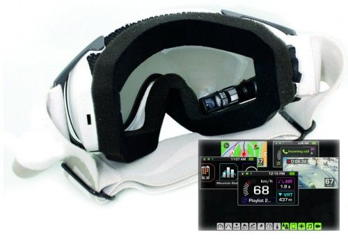 574e03355a13 Awesome GPS ski goggles  cool  awesome  gadgets  invention  tech  sports   outdoors