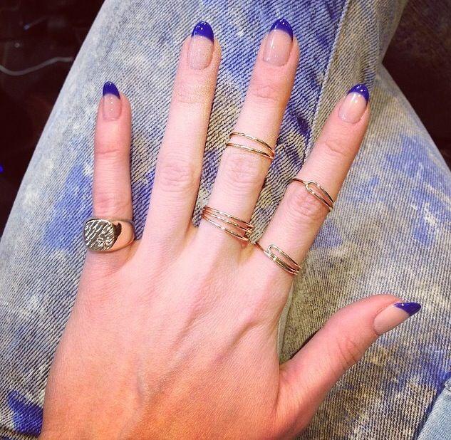 Blue tip nails