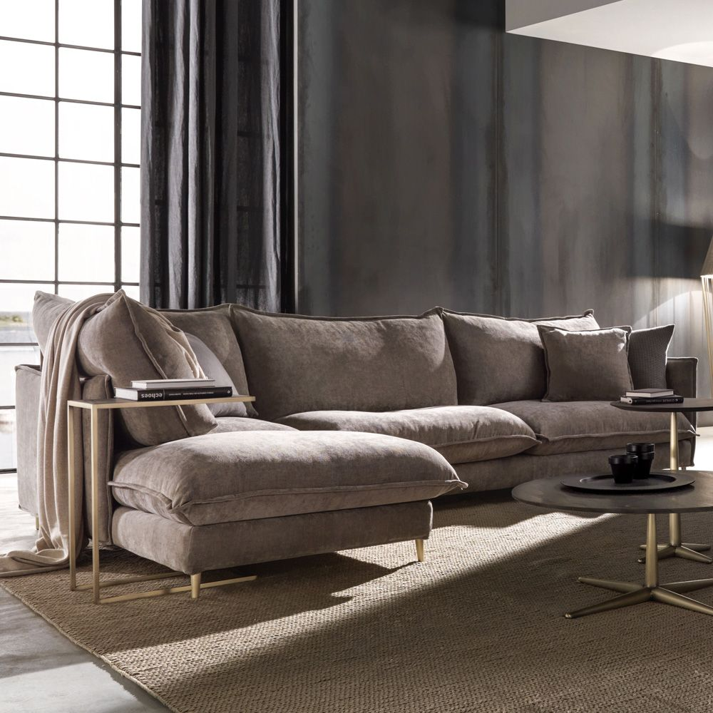 Oversized Contemporary Italian Faux Nubuck Leather Modular ...