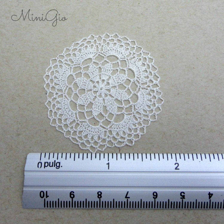 Miniature crochet round doily dollhouse crochet by MiniGio on Etsy ...