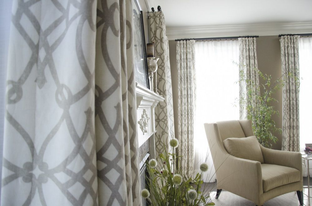 I Love The Soft Look Of Top Pleated Panels With Sheers Window