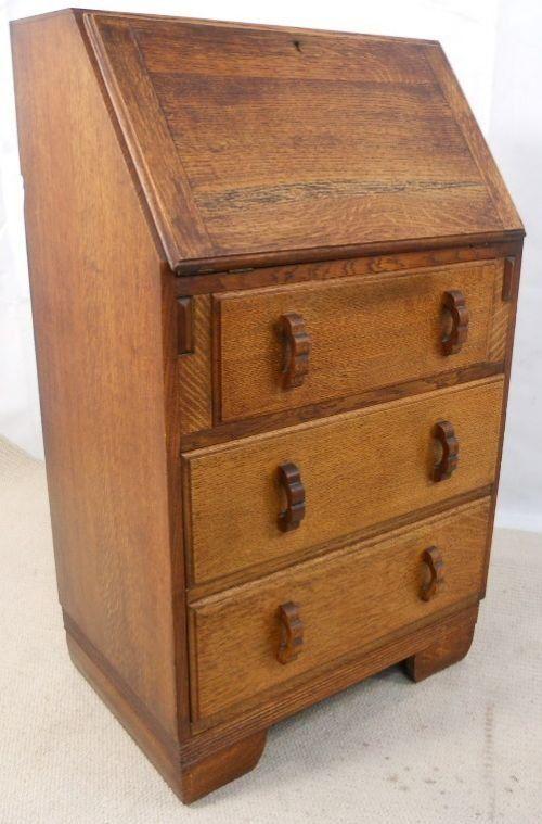 Solid oak writing bureau